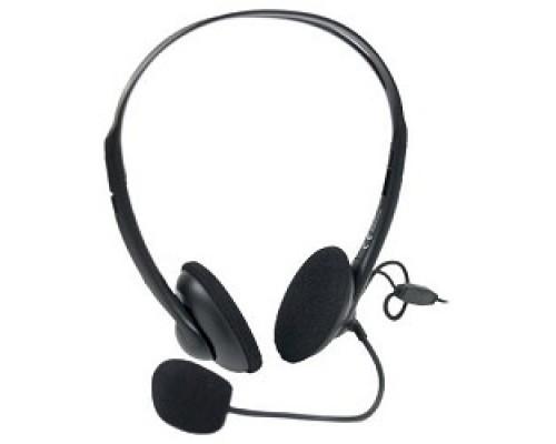 A4Tech HS-6, Черный Гарнитура стерео, наклад, рег громкости на проводе, 20-20000Гц 32 Ом 97дБ, микр подвижной 97дБ, кабель 2, 3.5 jack 3 pin