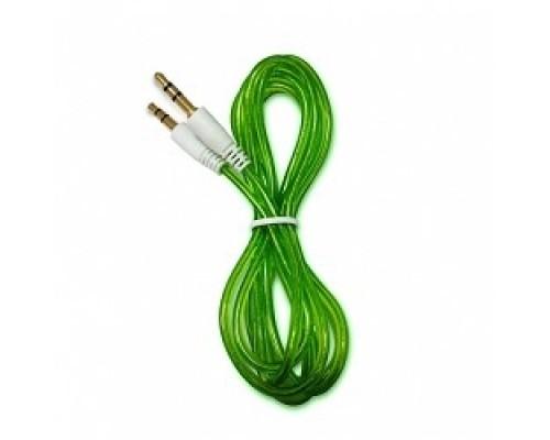 аудио CBR 3.5 jack CB 10 (Shine) Green, 1,5 м.