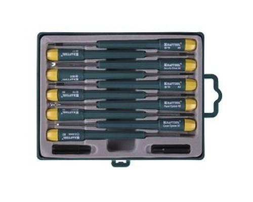 Наборы отверток KRAFTOOL Отвертки для ремонта мобильных телефонов, 12 предметов 25616-H12