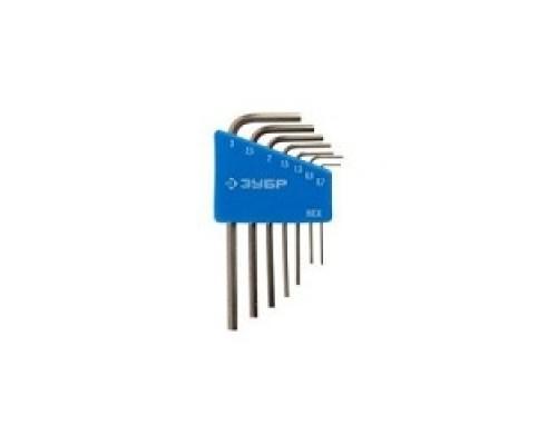Набор ключей имбусовых ЗУБР ЭКСПЕРТ (27471-H7) МИНИ для точных работ, Cr-V, HEX 0,7, 0,9, 1,3, 1,5, 2, 2,5, 3 мм, 7 шт
