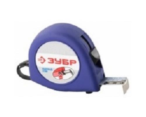 Рулетки, мерные ленты Рулетка ЗУБР КОМФОРТ, корпус резиновым напылением, 3мх16мм34016-3