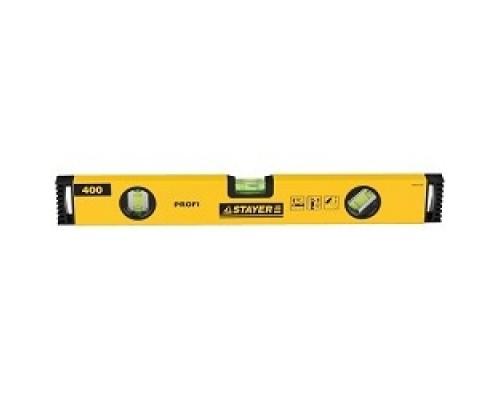STAYER Уровень PROFI PROFILevel коробчатый усиленный, фрезерованный, 3 противоударных ампулы, 40см 3466-040