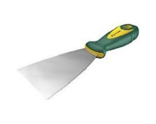Шпательная лопатка KRAFTOOL с 2-компонент ручк, профилиров нержав полотно, 100мм 10035-100