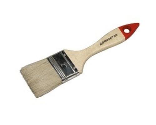 Кисть плоская STAYER UNIVERSAL-STANDARD, светлая натуральная щетина, деревянная ручка, 38мм0101-038