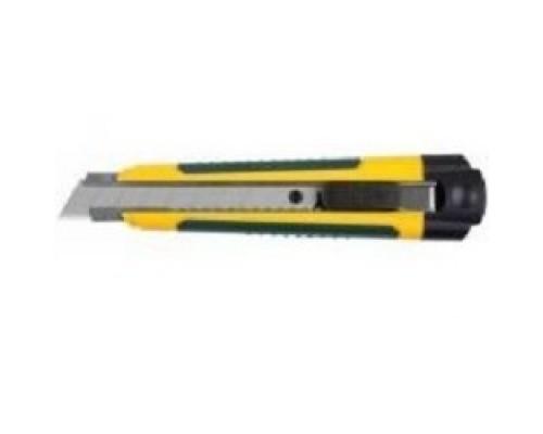 Нож KRAFTOOL EXPERT (09199) с сегментированным лезвием, двухкомп корпус, автостоп, отсек для хранения запасных лезвий, 18мм