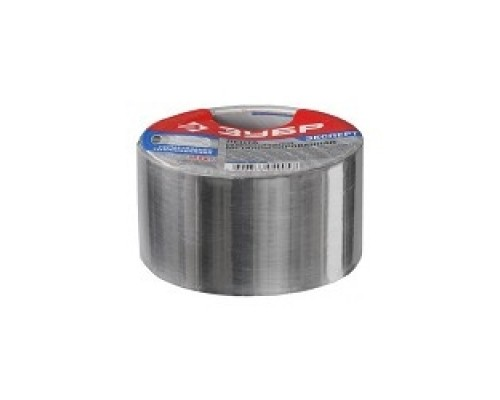 Лента ЗУБР ЭКСПЕРТ клеящая металлизированная, 50мм х 25м 12260-50-25