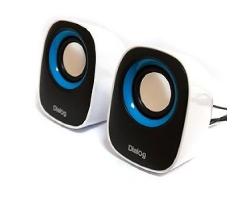 Колонки Dialog Colibri AC-06UP BLACK-WHITE акустические колонки 2.0, 6W RMS, питание от USB