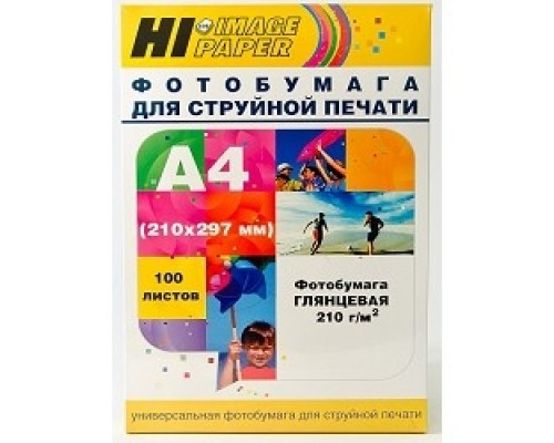 Hi-Black A200402U Фото глянцевая односторонняя (Hi-image paper) A4, 210 г/м, 100 л. (H210-A4-100)