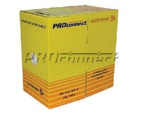 Proconnect (01-0045-3) UTP CAT5 4 пары (305м) 0.51мм OUTDOOR CCA