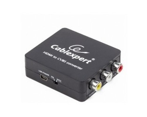 Cablexpert (DSC-HDMI-CVBS-001) Конвертер HDMI -> RCA, Cablexpert, HD19Fx3RCA, HDMI -> 3xRCA (1x video, 2x audio)