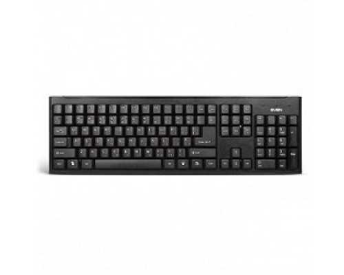Keyboard SVEN Standard 303 Power USB+PS/2 чёрная SV-03100303PU