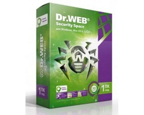 Программное обеспечение ПО DR.Web Security Space 1 ПК/1 год
