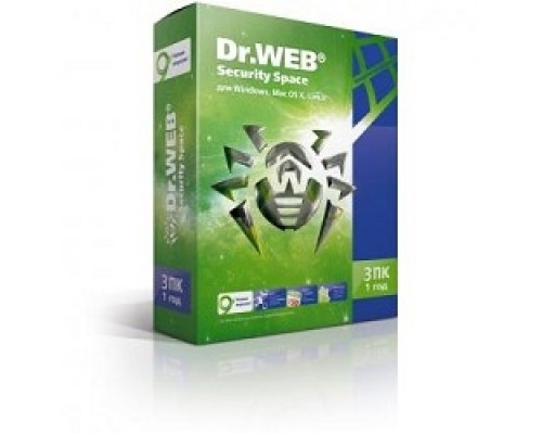 ПО DR.Web Security Space 3 ПК/1 год (BHW-B-12M-3-A3/AHW-B-12M-3-A2)