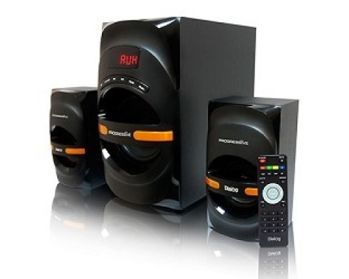 Колонки Dialog Progressive AP-210B BLACK 2.1, 30W+2*15W RMS, Bluetooth, USB+SD reader