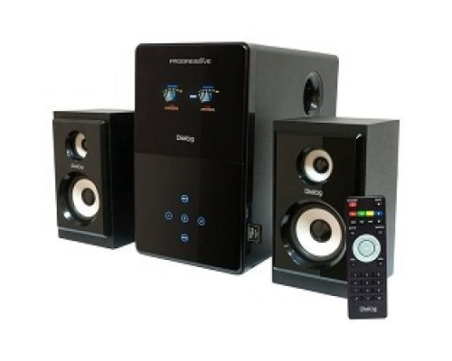 Колонки Dialog Progressive AP-220 BLACK 2.1, 30W+2*12W RMS, USB+SD reader