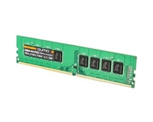 Модуль памяти QUMO DDR4 DIMM 4GB QUM4U-4G2133C15 PC4-17000, 2133MHz