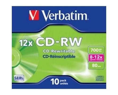 Verbatim CD-RW 700Mb 12x DataLife+ (10шт) (43148)
