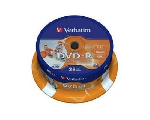 Диск Verbatim DVD-R 4,7Gb 16x Cake Box Printable