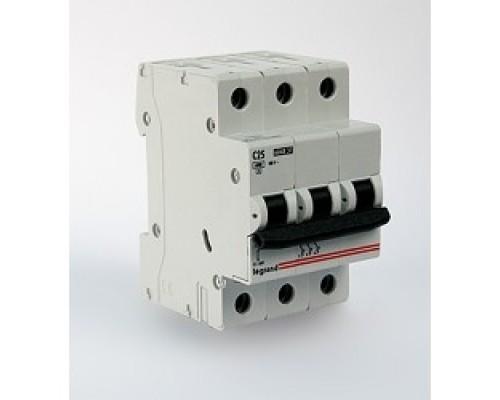 Legrand 404059 Автоматический выключатель TX3 6000 - 6 кА - тип характеристики C - 3П - 400 В~ - 32 А - 3 модуля