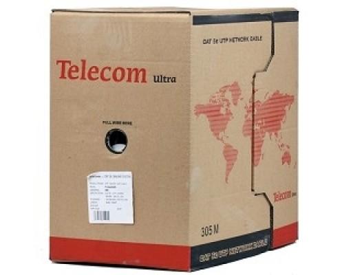 Telecom Ultra Base UTP кат.5e 4 пары (305м) (0.48mm) CCA серый TUS44048E