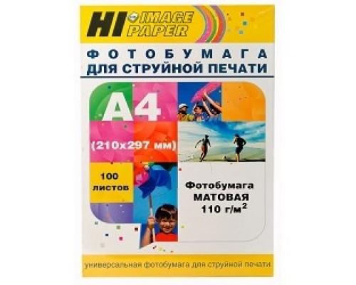 Hi-Black A2123/ MC110-A4-100 Фото матовая односторонняя (Hi-image paper) A4, 110 г/м, 100 л.