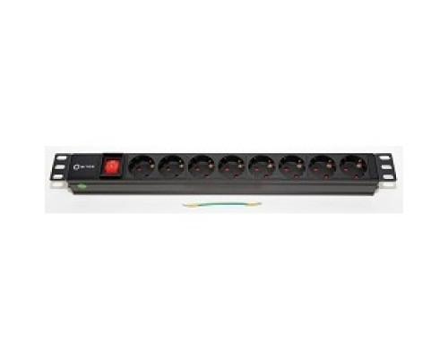 5bites PDU819A-07 Блок розеток 8S / AL / SWITCH / 1U / 19
