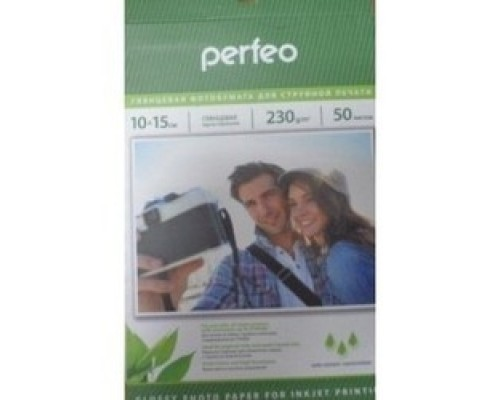 Perfeo PF-GLR4-230/50 Бумага Perfeo глянцевая , 10х15 230 г/м2 , 50 л