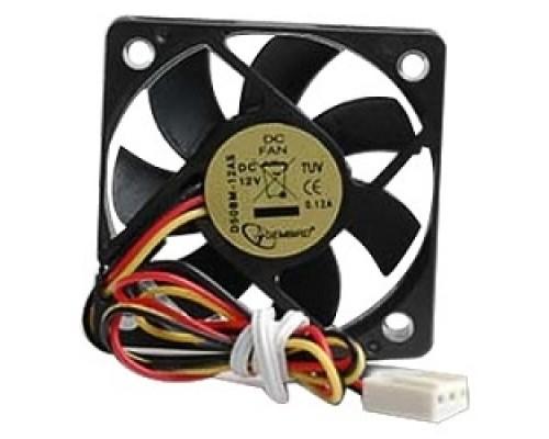 Вентилятор Gembird 50x50x10, подшипник, 3pin, провод 25 см D50BM-12AS