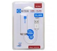 5bites UA2-45-02WH Кабель-адаптер USB2.0 -> RJ45 10/100 Мбит/с, 10см