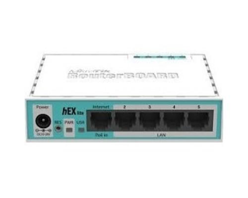 Сетевое оборудование MikroTik RB750r2 hEX lite Маршрутизатор 4 порта 100Мбит/сек. + WAN