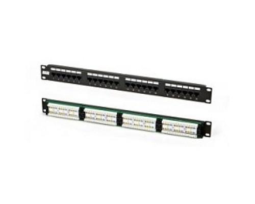 Hyperline PPHD-19-24-8P8C-C5E-110D Патч-панель высокой плотности 19, 0.5U, 24 порта RJ-45, категория 5E, Dual IDC