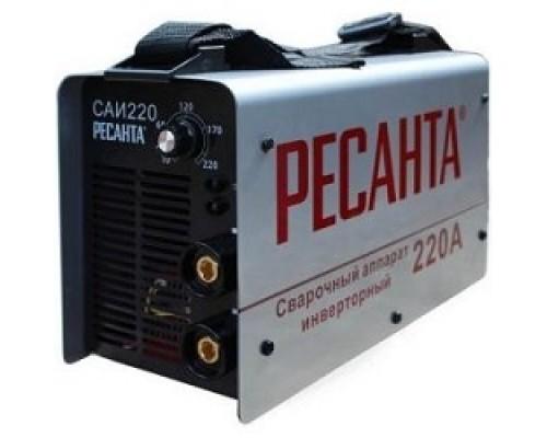 Ресанта САИ 220 65/3 Сварочный аппарат инверторный 65/3 154В-242В, макс.6,6кВт, 10А-220А, ПВ 70%, напр. холостого хода 80В, напр. 28В, макс. диаметр электрода 5мм, 4,9 кг 4606059015192