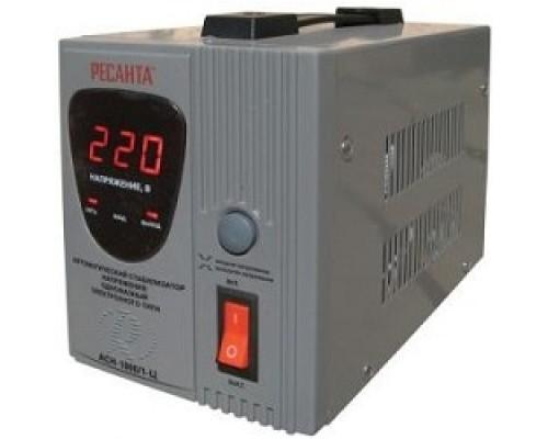 Ресанта АСН-1 000/1-Ц 63/6/2 Стабилизатор 220В±8%, Габариты 237х140х170, Вес 4 кг 4607076037617