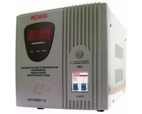 Ресанта АСН-5 000/1-Ц 63/6/6 Стабилизатор 220В±8%, Габариты 340х220х230, Вес 13 кг