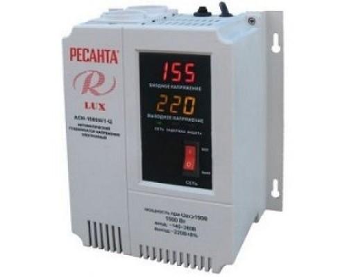 Ресанта АСН-1 500 Н/1-Ц 63/6/20 Стабилизатор Lux 220В±8%, Габариты 206х133х230, Вес 4,5кг