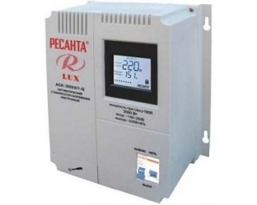 Ресанта АСН-3 000 Н/1-Ц 63/6/21 Стабилизатор Lux 220В±8%, Габариты 260х155х310, Вес 8кг