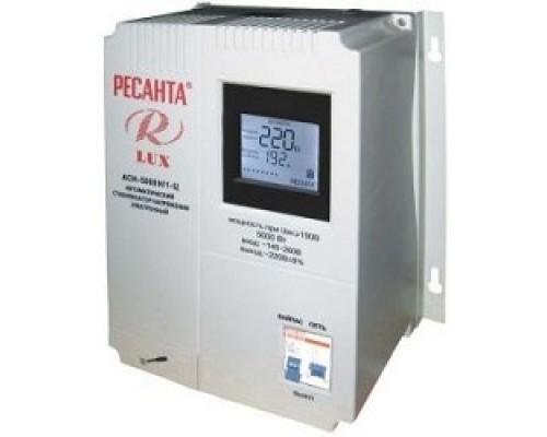 Ресанта АСН-5 000 Н/1-Ц 63/6/16 Стабилизатор Lux 220В±8%, Габариты 260х155х310, Вес 10кг