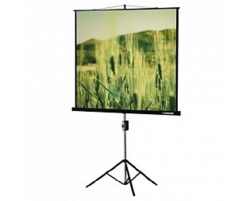 Экраны LUMIEN Lumien Eco View LEV-100101 на треноге 150x150 см 1:1 напольный рулонный
