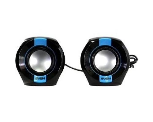Колонки AC SVEN 150, чёрный-синий