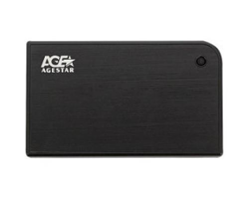 AgeStar 3UB2A14 BLACK USB 3.0 Внешний корпус 2.5 SATA AgeStar 3UB2A14 (BLACK) USB3.0, алюминий, черный, безвинтовая конструкция 10604
