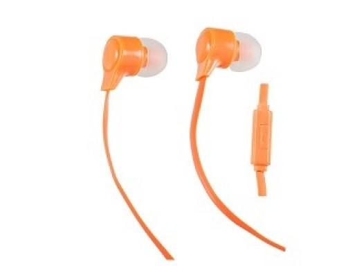 Perfeo наушники внутриканальные c микрофоном HANDY оранжевые PF-HND-ORG