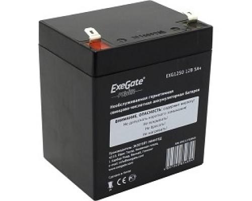 батареи Exegate EP211732RUS Аккумуляторная батарея EG5-12 / EXG1250, 12В 5Ач, клеммы F2