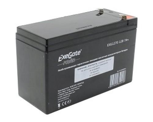 Exegate EP129858RUS Аккумуляторная батарея  Exegate EG7-12 / EXG1270, 12В 7Ач, клеммы F2 (универсальные)