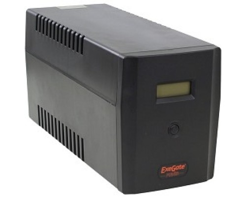 Exegate EP212520RUS ИБП Exegate Power  Smart ULB-1500 LCD <1500VA, Black, 2 евророзетки+2 розетки IEC320, USB>