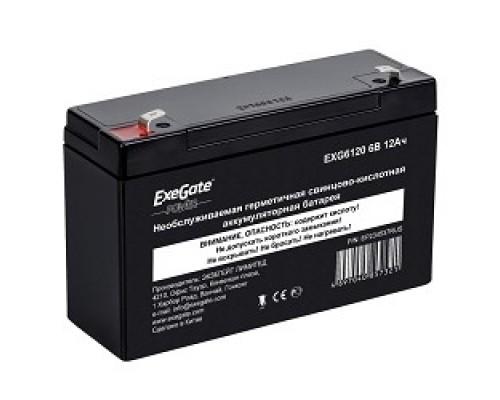 Exegate EP234537RUS Аккумуляторная батарея DT 612 (6V 12Ah, клеммы F1)