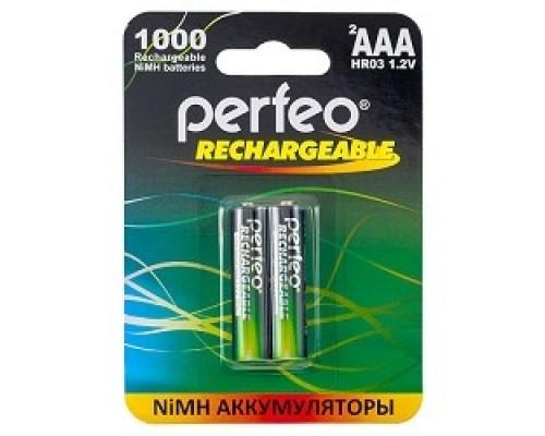 Аккумулятор Perfeo AAA1000mAh/2BL
