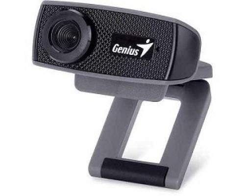 Genius FaceCam 1000X Black 720p HD, универсальное крепление, микрофон, USB 32200003400