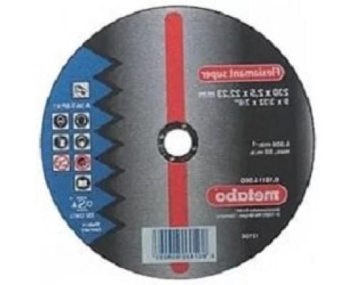 Диски отрезные, пильные, шлифовальные Metabo 616115000 Круг сталь Flexiamant S 230x2,5 прямой А36Т