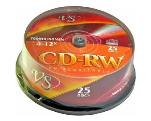 Диск VS CD-RW 80 4-12x CB/25