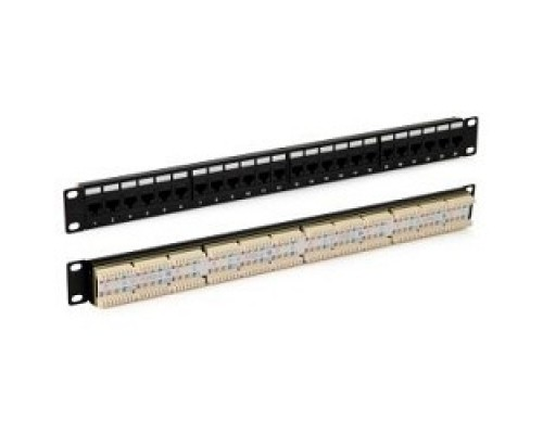 Монтажное оборудование Hyperline PP3-19-24-8P8C-C5E-110D Патч-панель 1U, 24xRJ-45, 5e, Dual IDC, ROHS, цвет черный